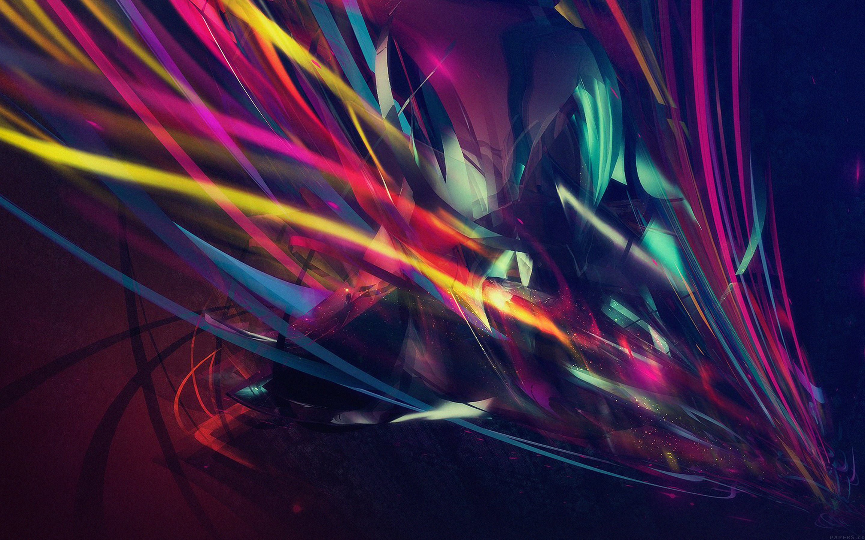 Abstract Multi Color Lines Wallpaper for Desktop 2880x1800