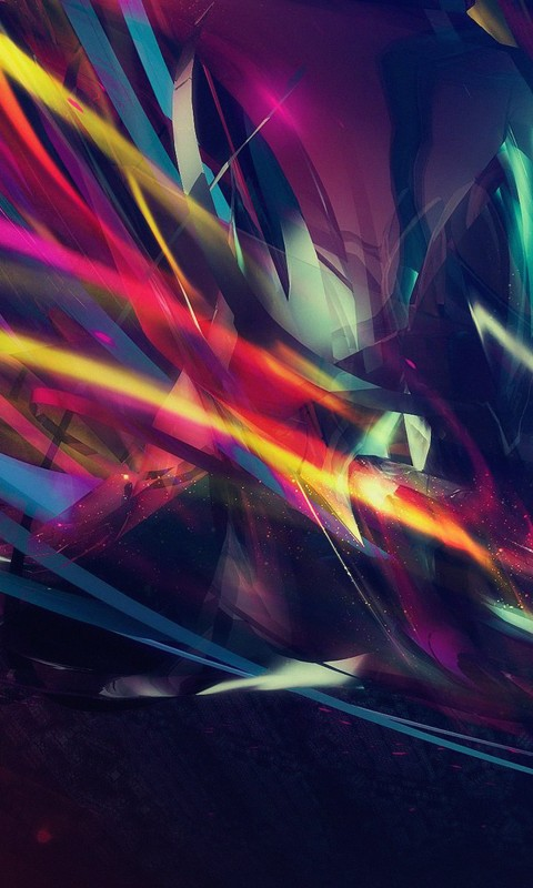 Abstract Multi Color Lines Wallpaper for SAMSUNG Galaxy S3 Mini