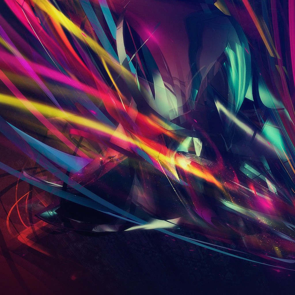 Abstract Multi Color Lines Wallpaper for Apple iPad 2