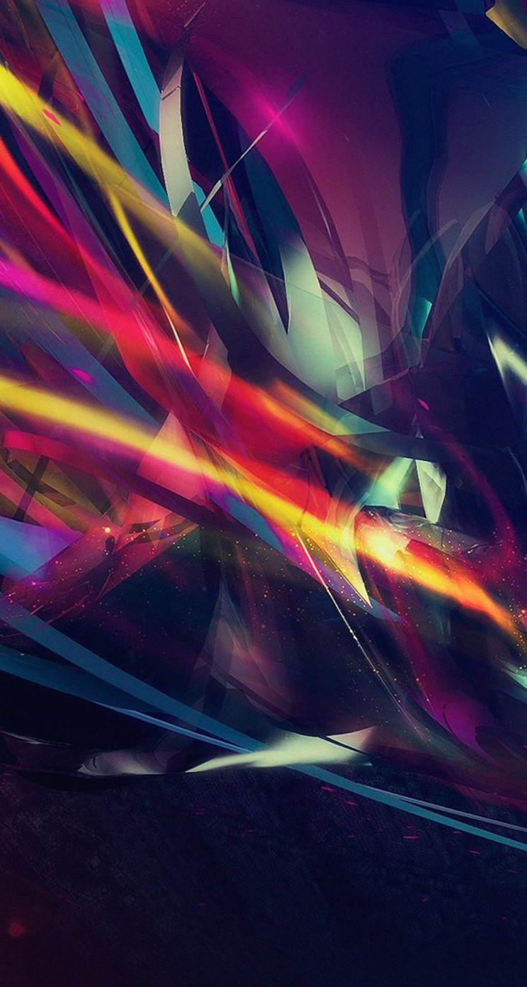 Abstract Multi Color Lines Wallpaper for Apple iPhone 5 / 5s