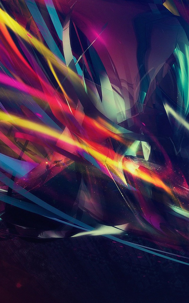 Abstract Multi Color Lines Wallpaper for Amazon Kindle Fire HD