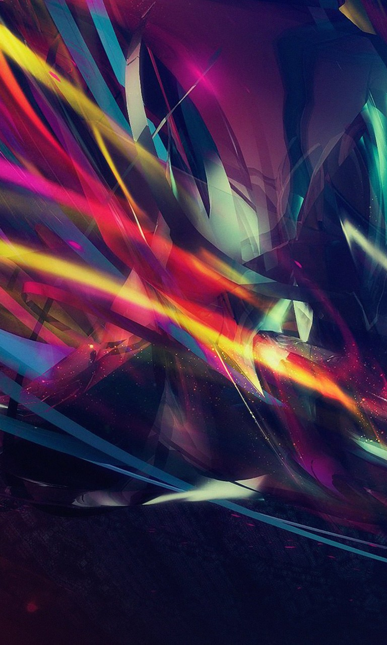 Abstract Multi Color Lines Wallpaper for LG Optimus G