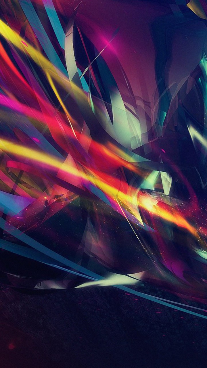 Abstract Multi Color Lines Wallpaper for Xiaomi Redmi 1S