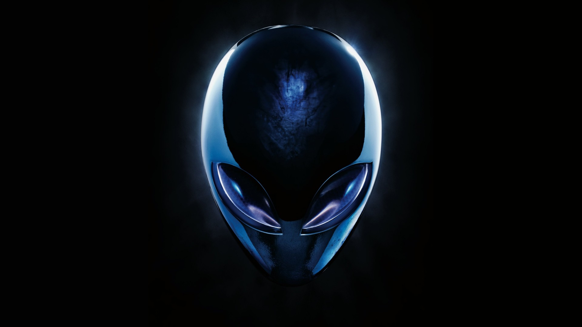 Alienware Blue Logo Wallpaper for Desktop 1920x1080
