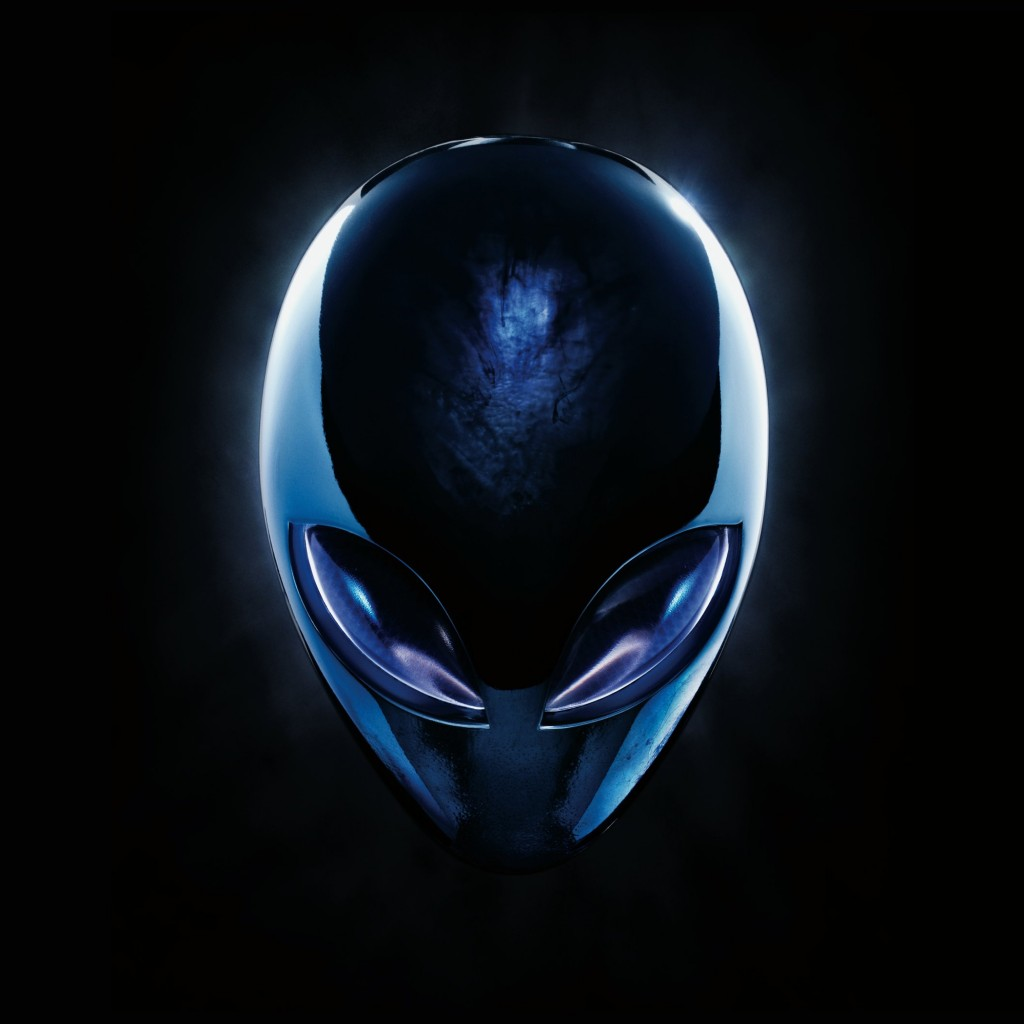 Alienware Blue Logo Wallpaper for Apple iPad