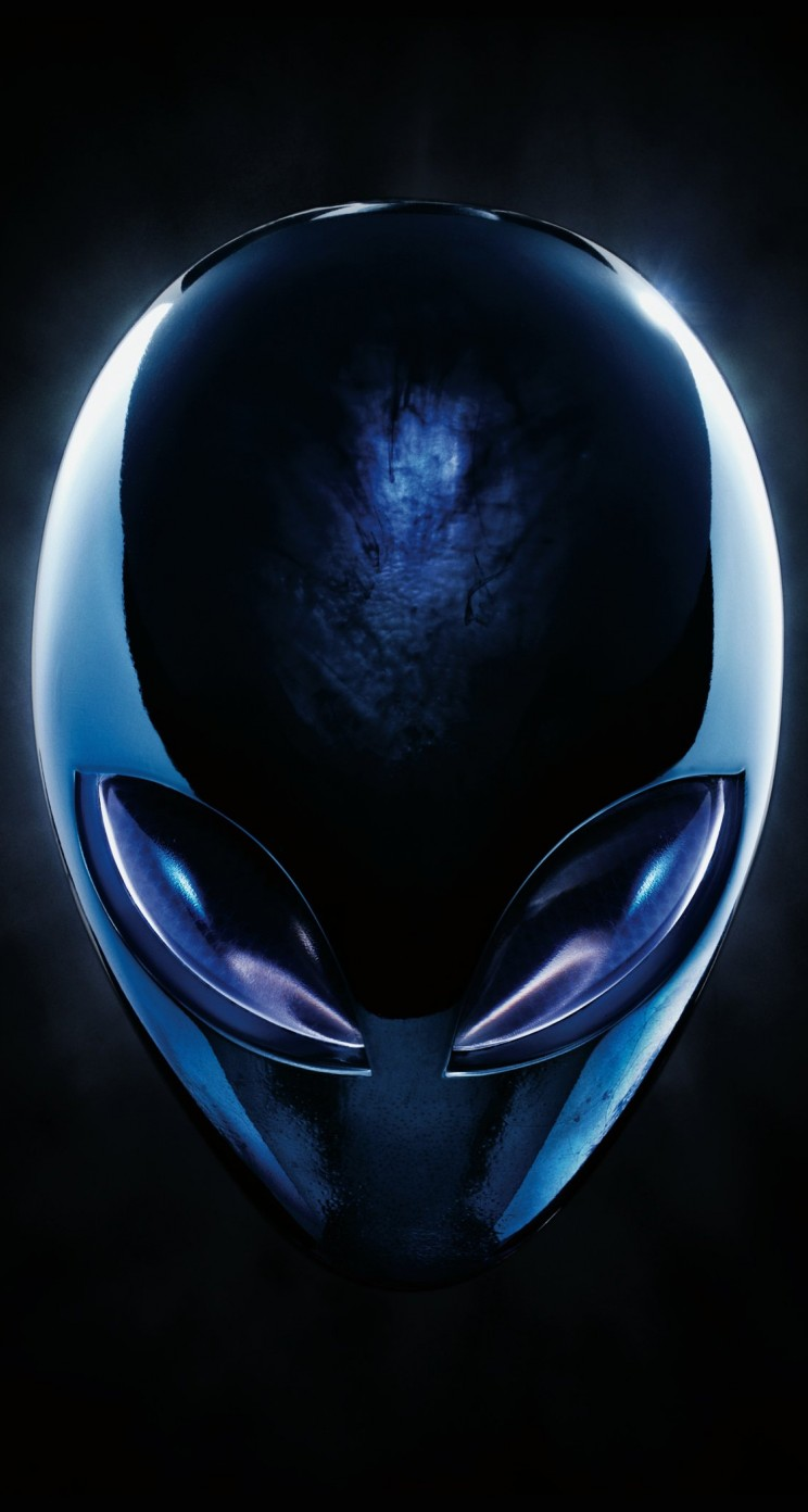Alienware Blue Logo Wallpaper for Apple iPhone 5 / 5s