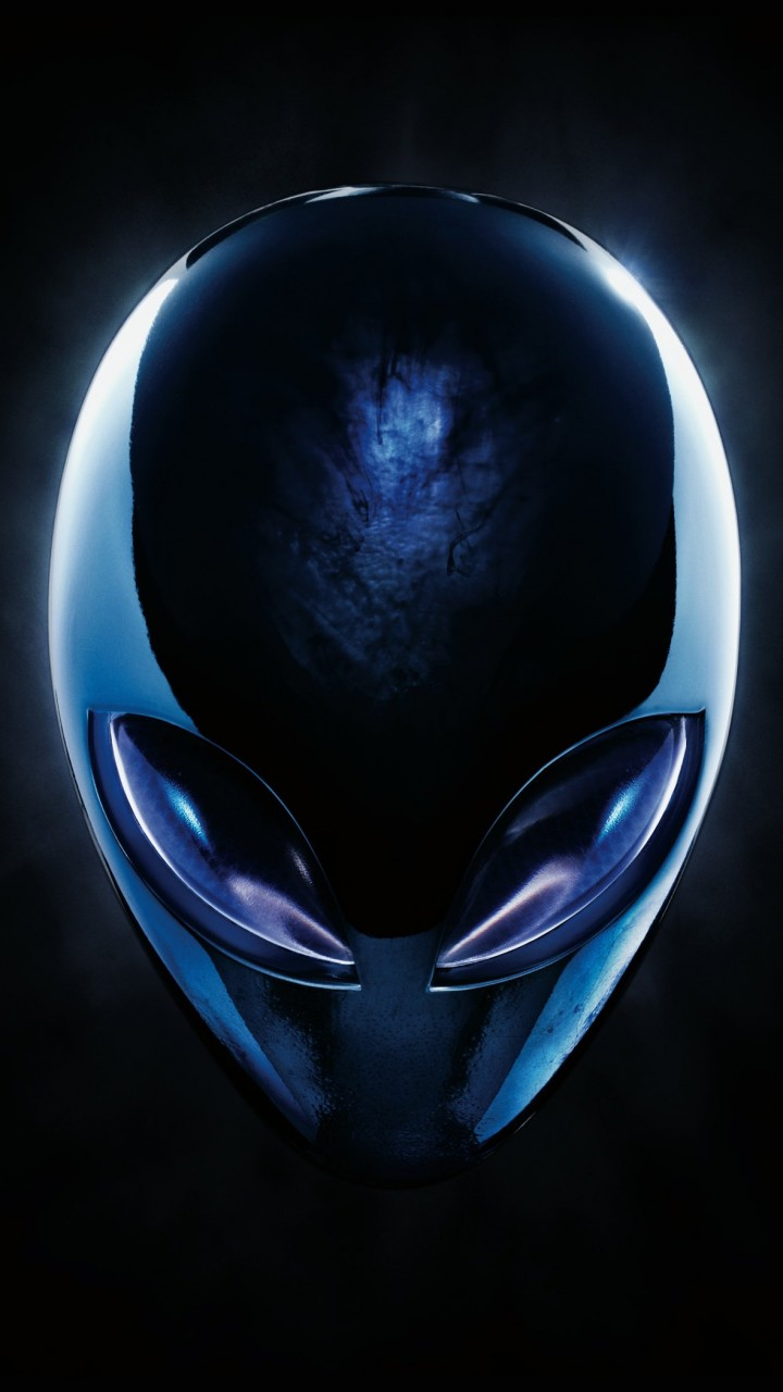 Alienware Blue Logo Wallpaper for Xiaomi Redmi 2