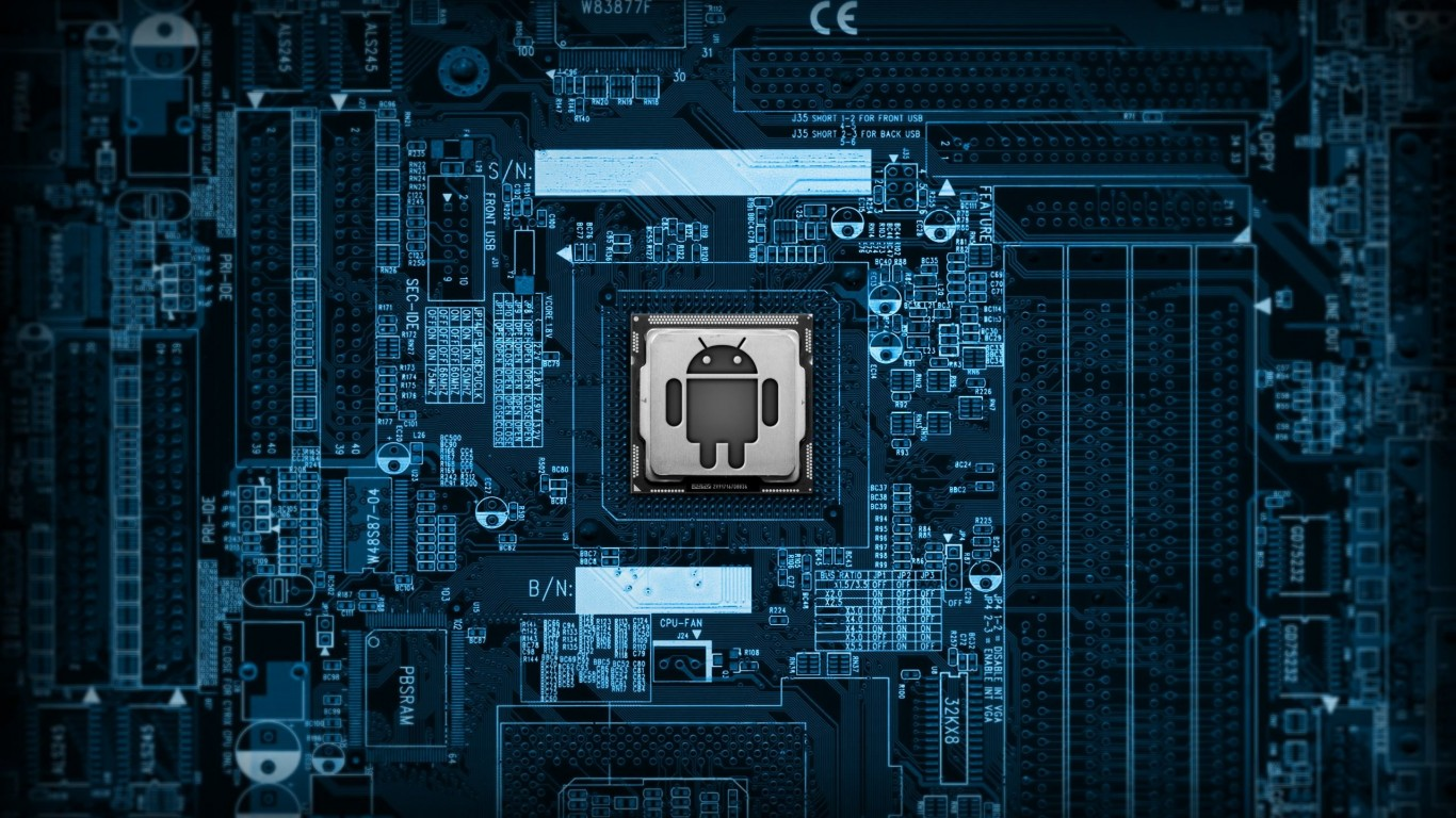 Android Logic Board Wallpaper for Desktop 1366x768