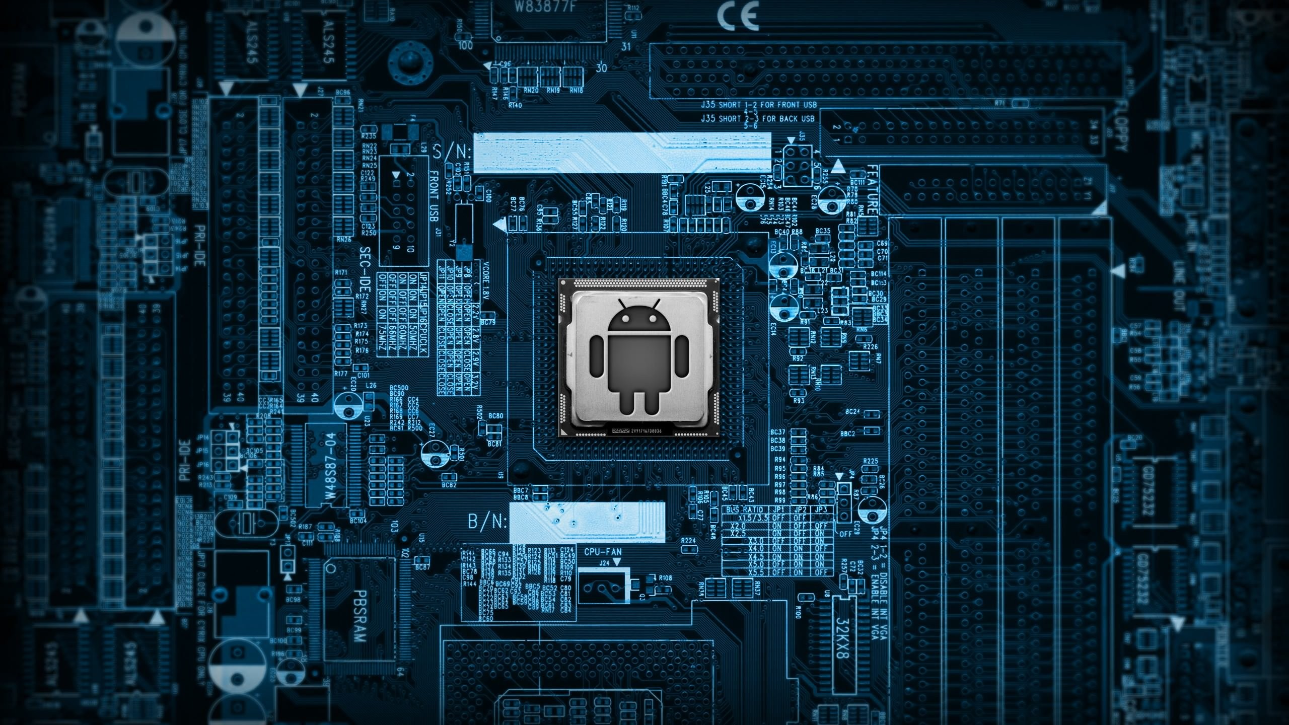 Android Logic Board Wallpaper for Desktop 2560x1440