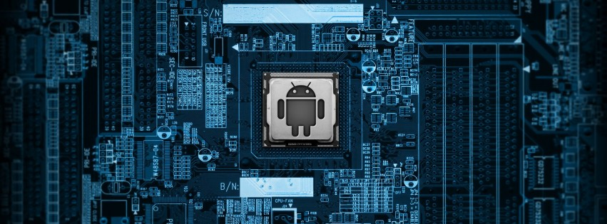 Android Logic Board Wallpaper for Social Media Facebook Cover