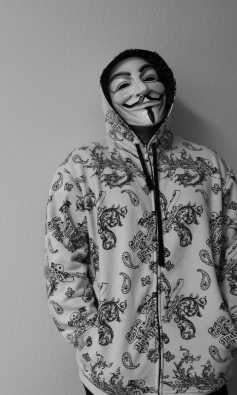 Anonymous Guy Wallpaper for HTC Desire HD