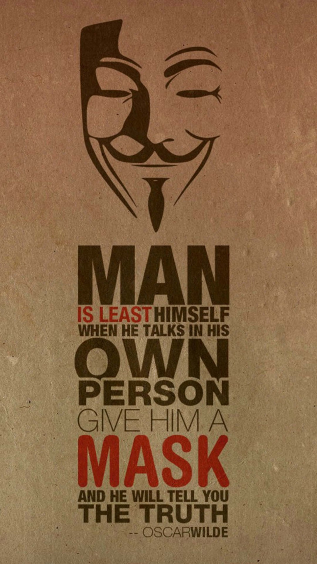 Anonymous Oscar Wilde Quote Wallpaper for Motorola Moto X