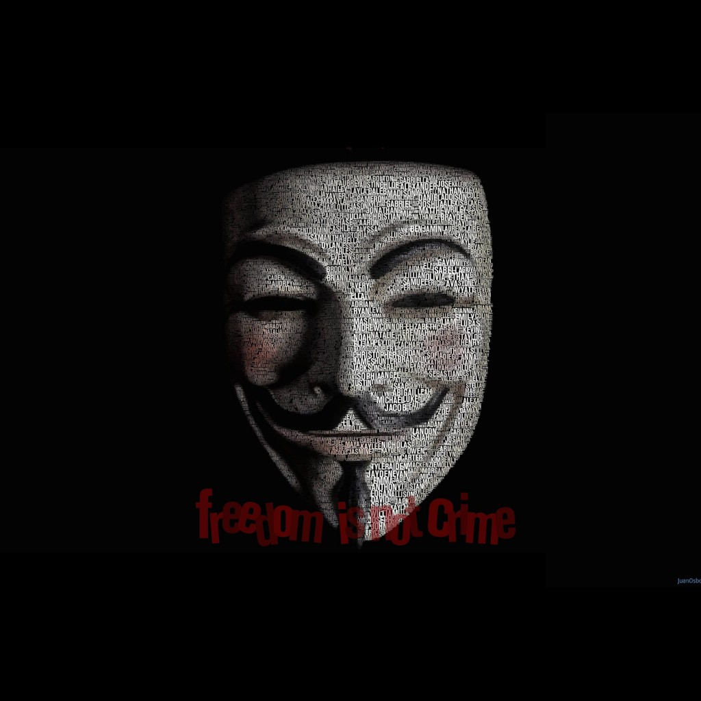Anonymous Typeface Portrait Wallpaper for Apple iPad 2