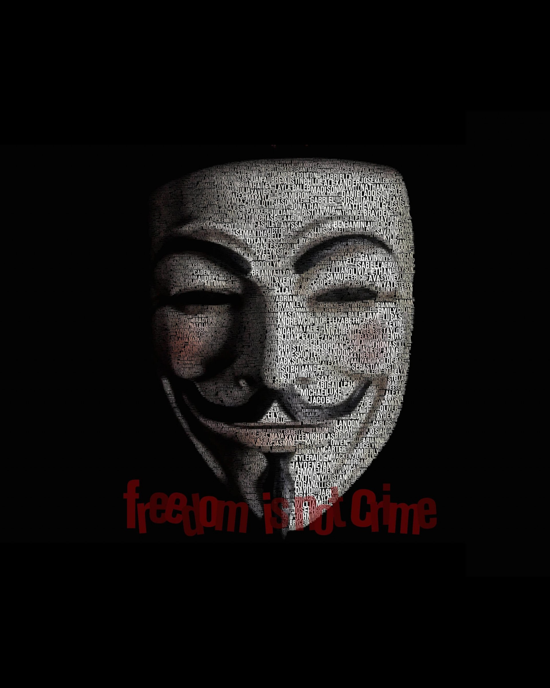 Anonymous Typeface Portrait Wallpaper for Google Nexus 7