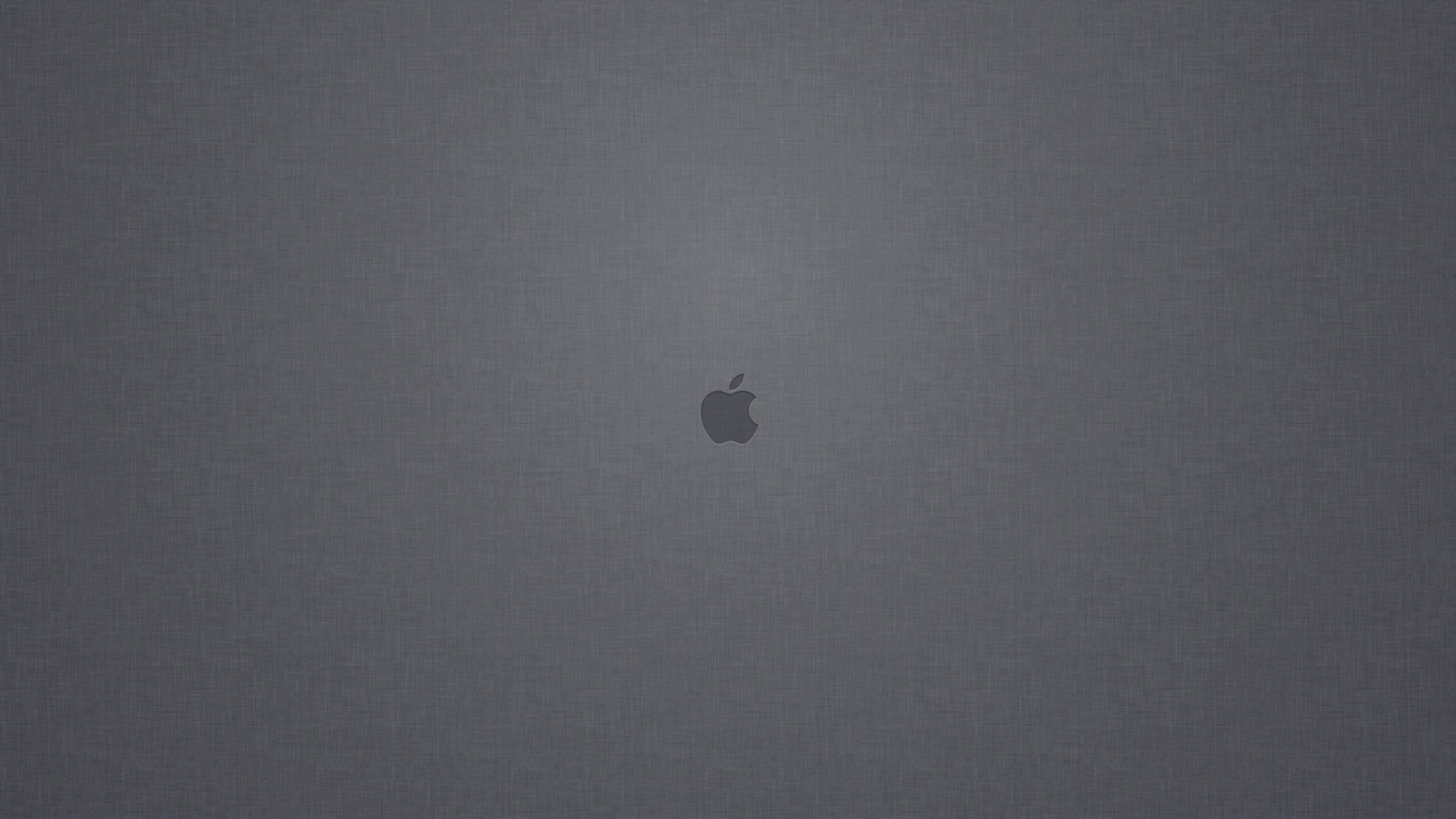 Apple Logo Denim Texture Wallpaper for Desktop 4K 3840x2160