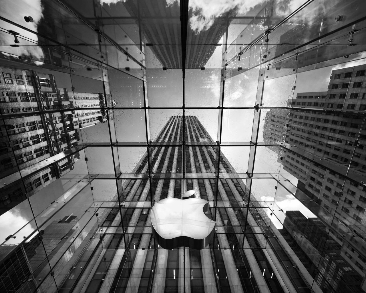 Apple Store, Fifth Avenue, New York City Wallpaper for Desktop 1280x1024
