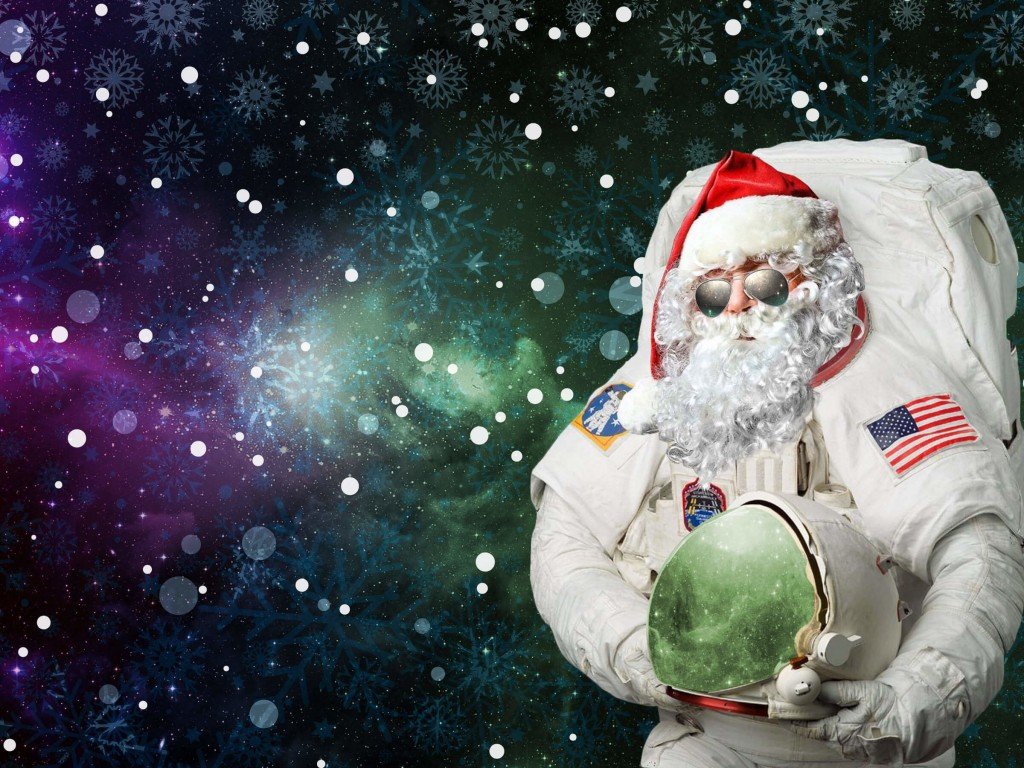 Astro Santa Wallpaper for Desktop 1024x768
