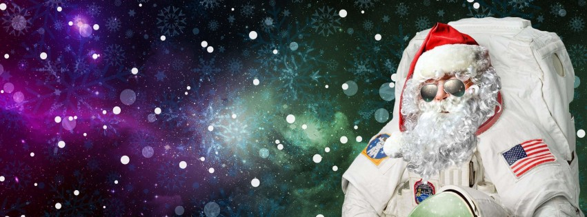 Astro Santa Wallpaper for Social Media Facebook Cover