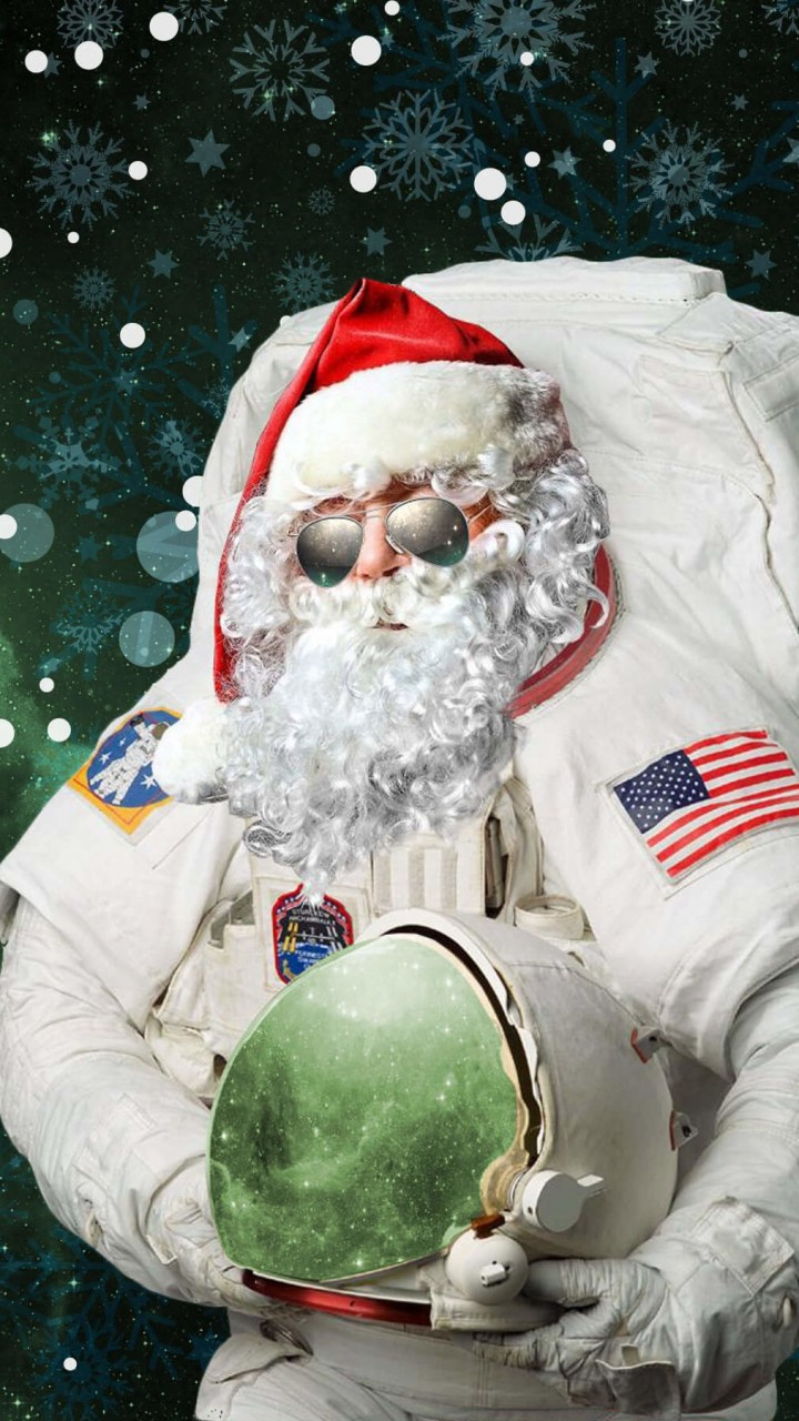 Astro Santa Wallpaper for Google Galaxy Nexus