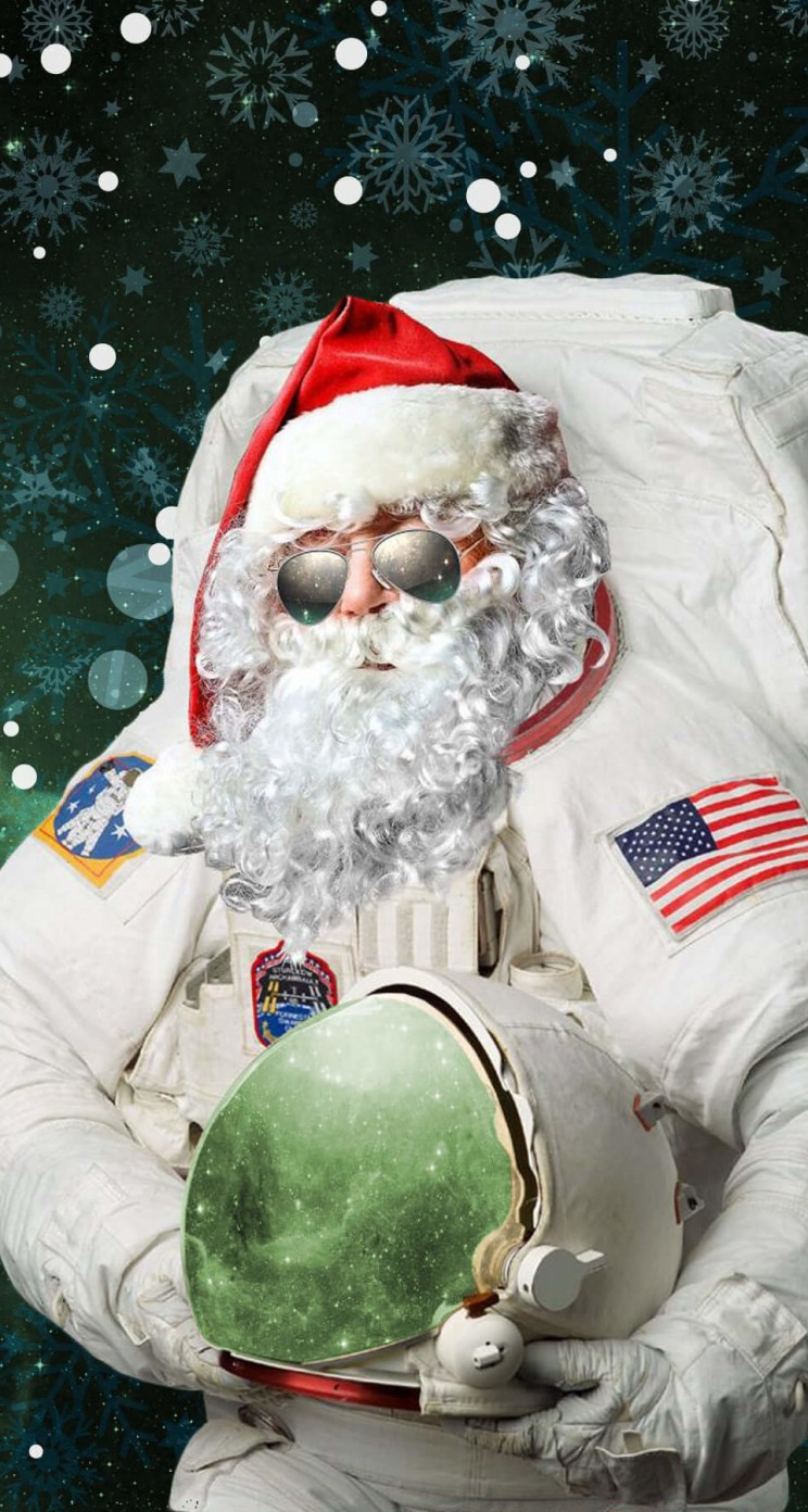 Astro Santa Wallpaper for Apple iPhone 5 / 5s