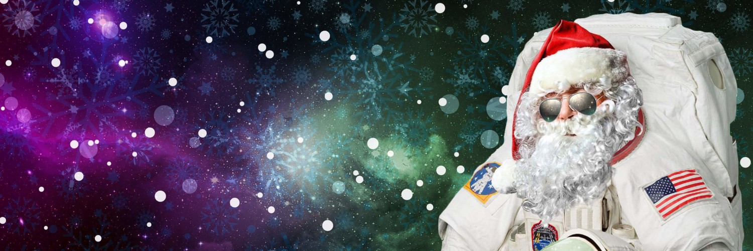 Astro Santa Wallpaper for Social Media Twitter Header