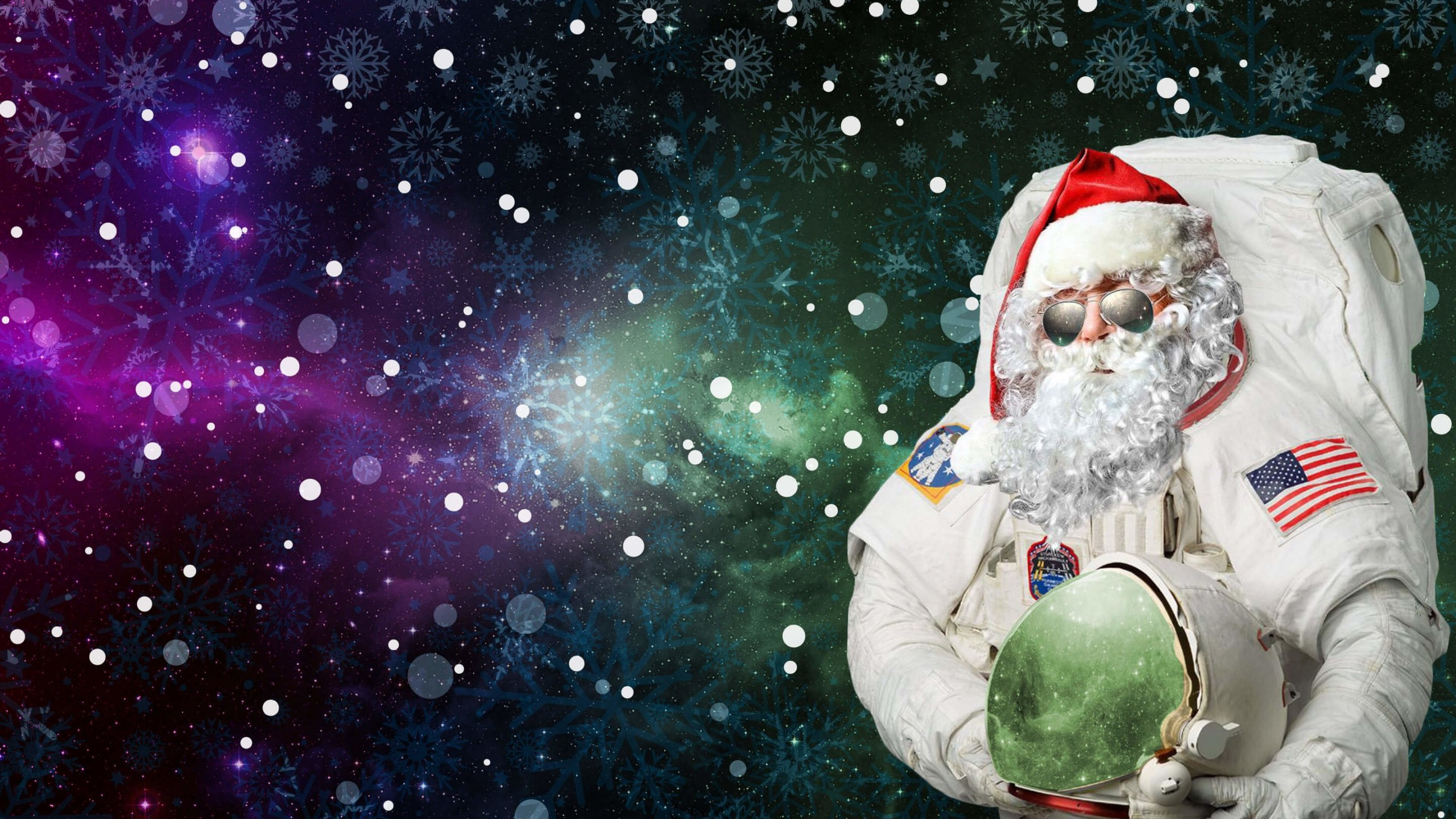 Astro Santa Wallpaper for Social Media YouTube Channel Art