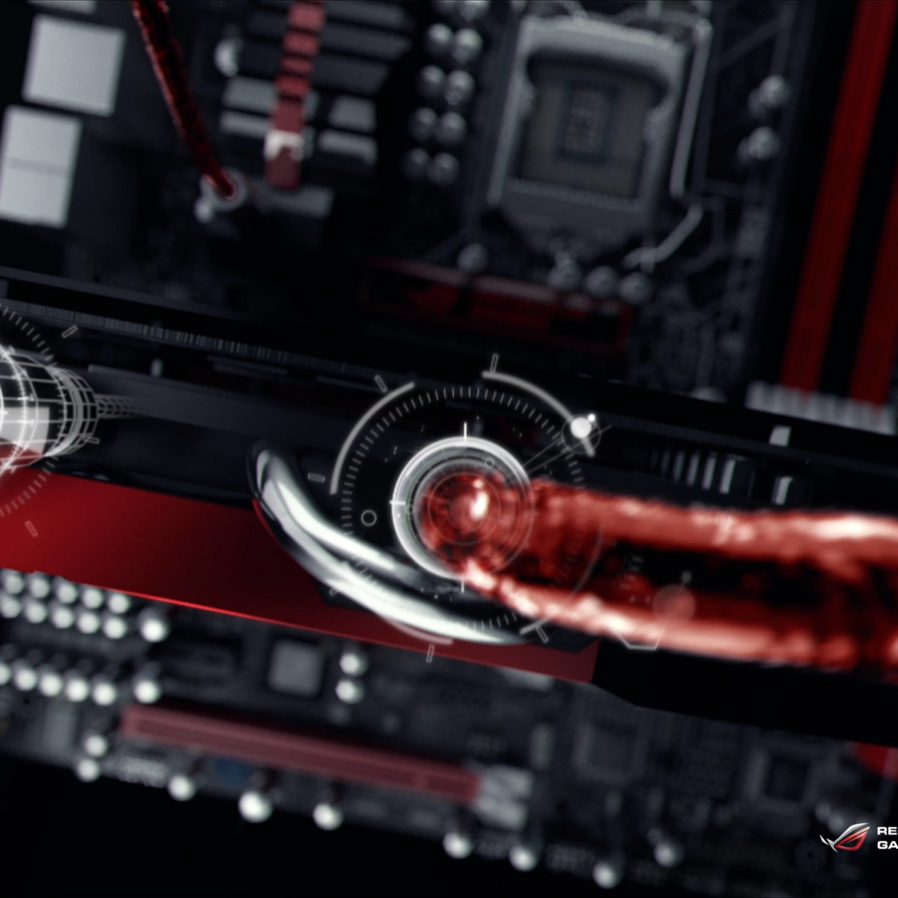 ASUS ROG Poseidon Liquid Cooling Wallpaper for Apple iPad mini
