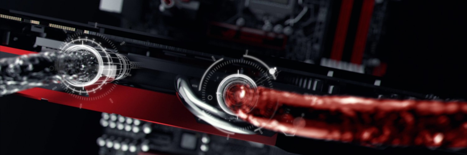 ASUS ROG Poseidon Liquid Cooling Wallpaper for Social Media Twitter Header