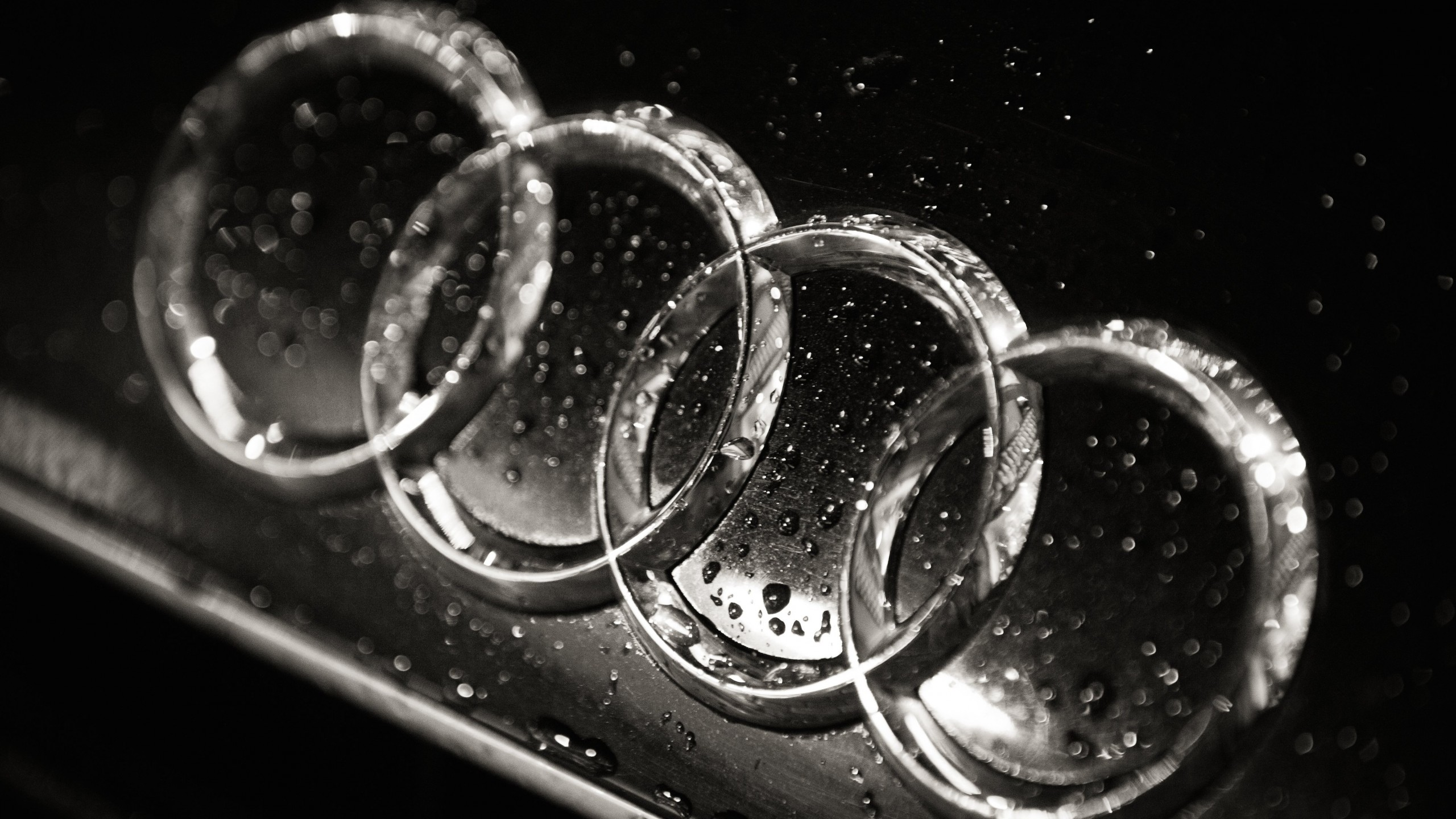 Download Audi Logo in Black & White HD wallpaper for 2560 x 1440 - HDwallpapers.net