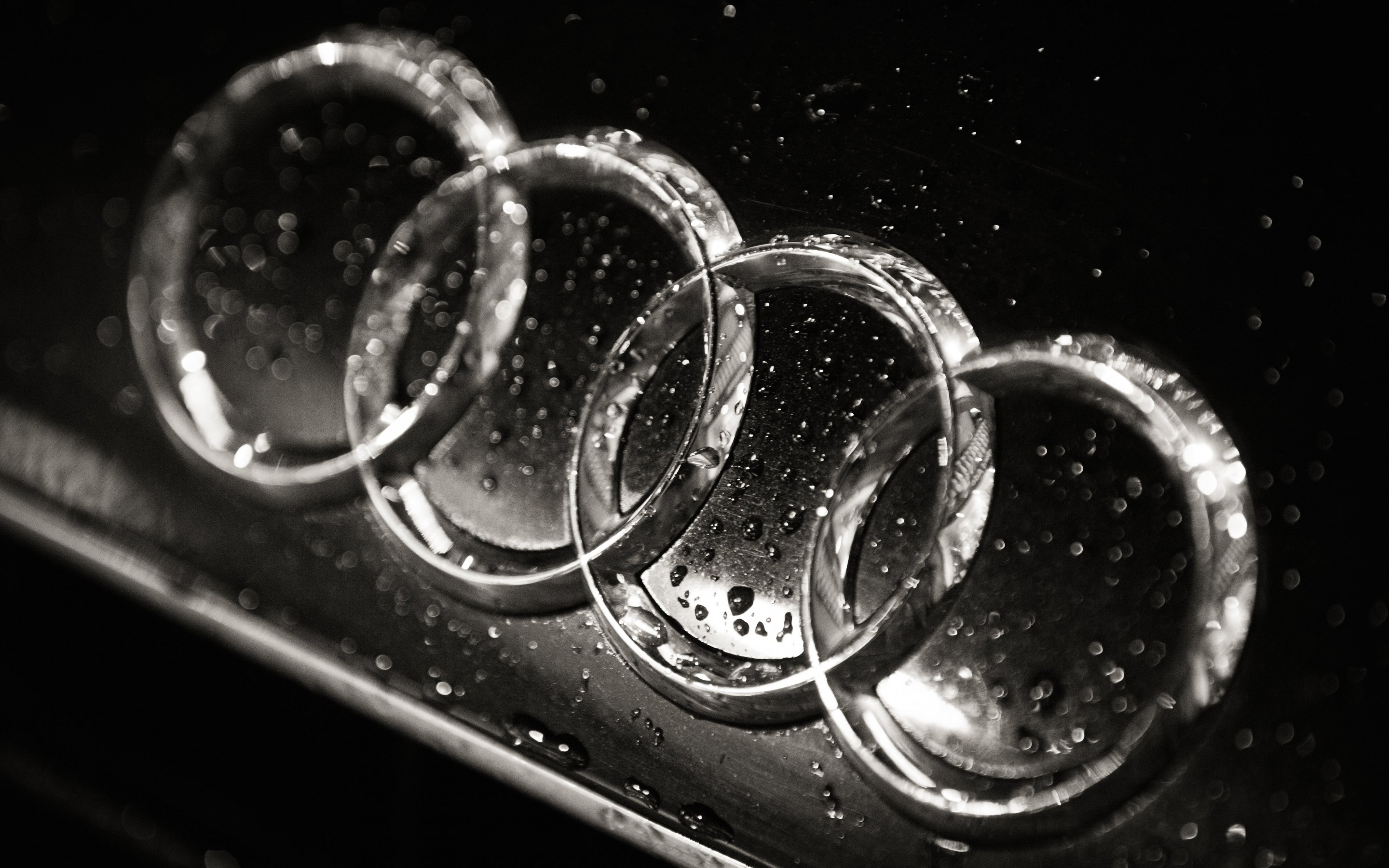 Audi Logo in Black & White Wallpaper for Desktop 2880x1800