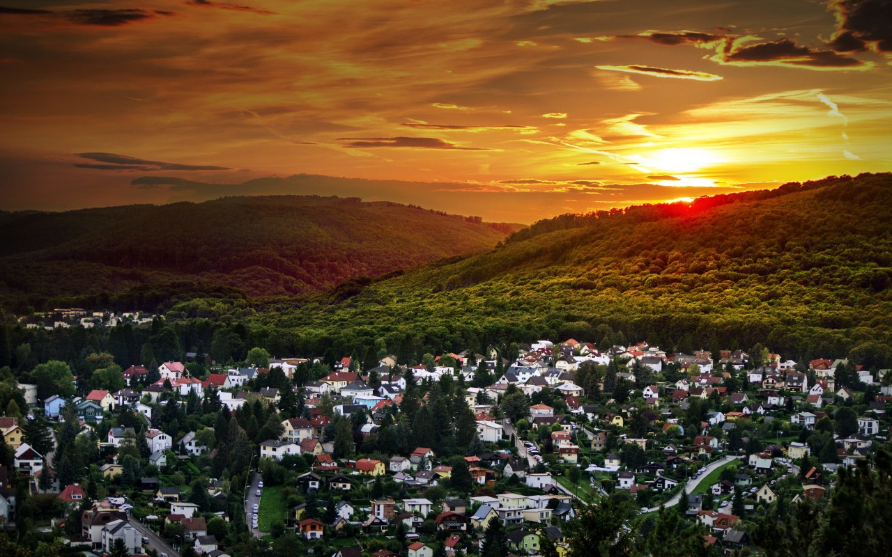 Austrian Sunset Wallpaper for Desktop 1280x800