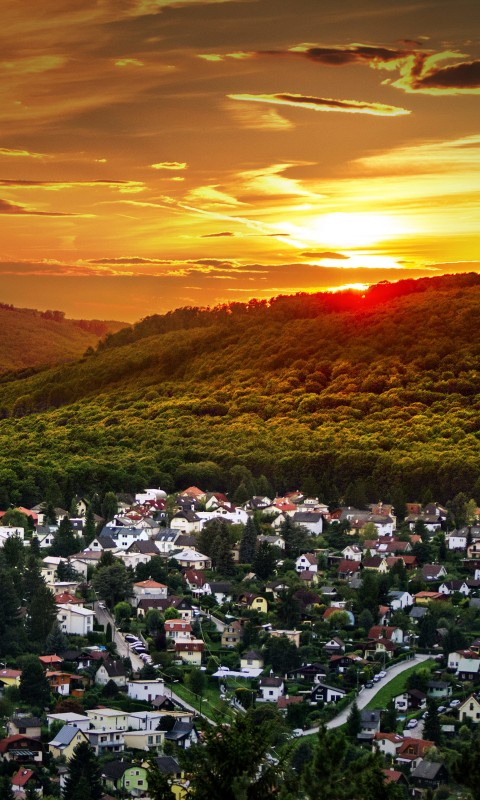 Austrian Sunset Wallpaper for HTC Desire HD
