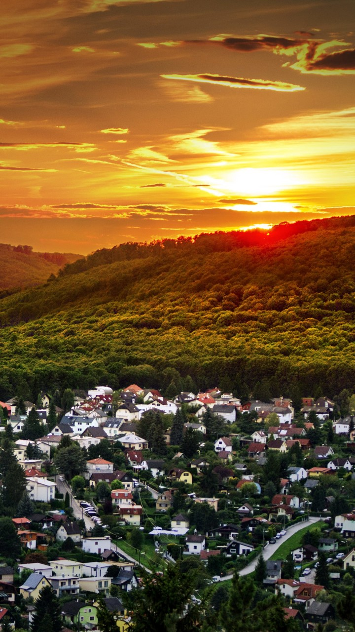 Austrian Sunset Wallpaper for HTC One X
