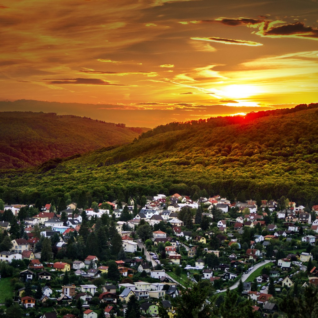Austrian Sunset Wallpaper for Apple iPad