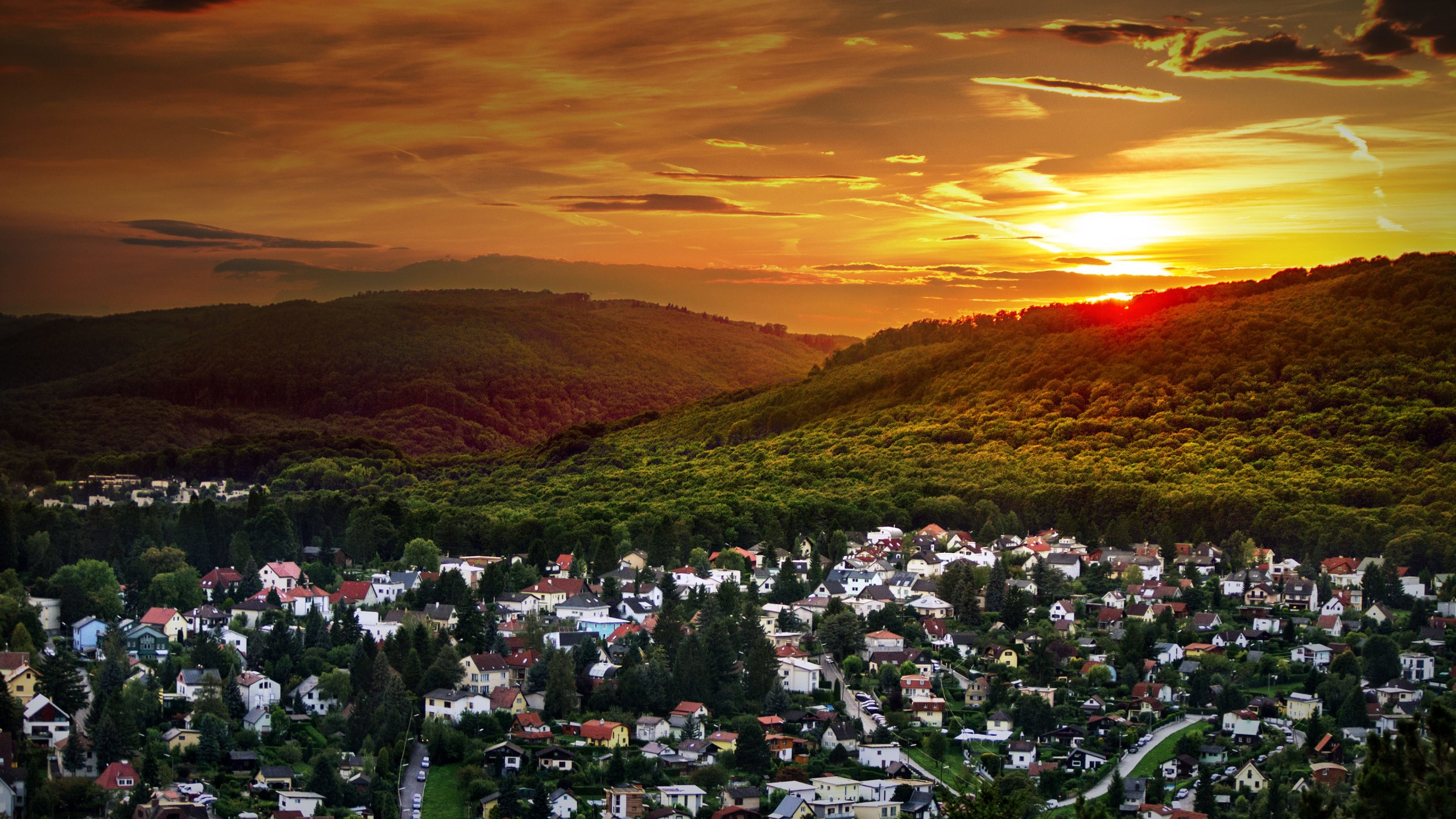 Austrian Sunset Wallpaper for Social Media YouTube Channel Art