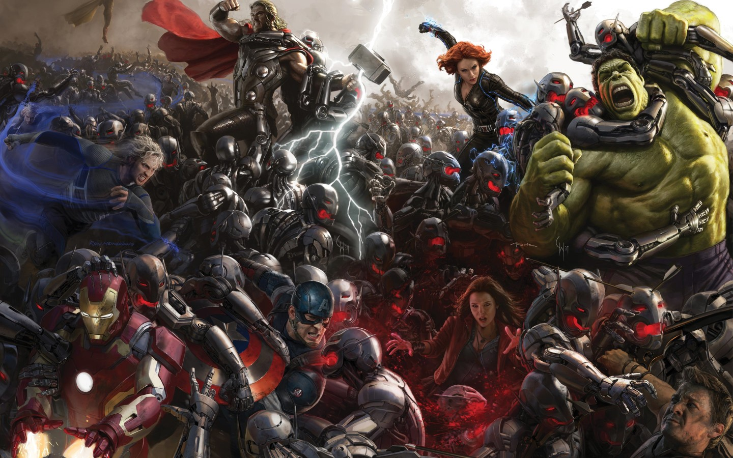 Avengers Age Of Ultron Concept Art Wallpaper for Desktop 1440x900