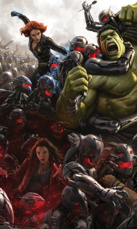 Avengers Age Of Ultron Concept Art Wallpaper for SAMSUNG Galaxy S3 Mini
