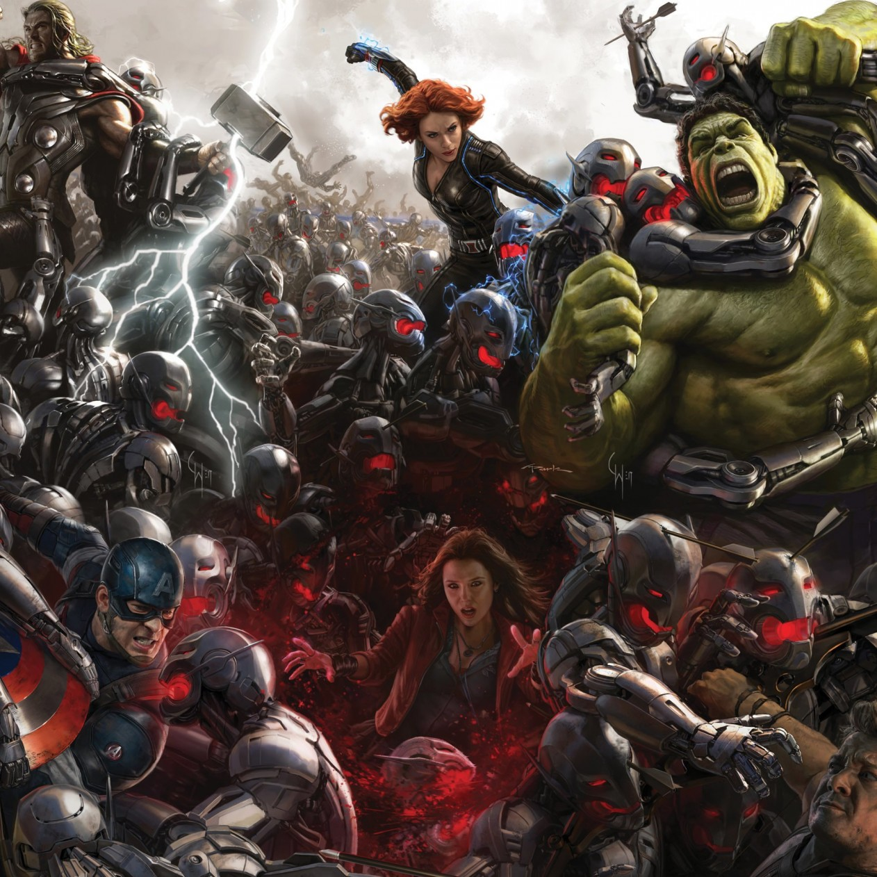 Avengers Age Of Ultron Concept Art Wallpaper for Apple iPad mini