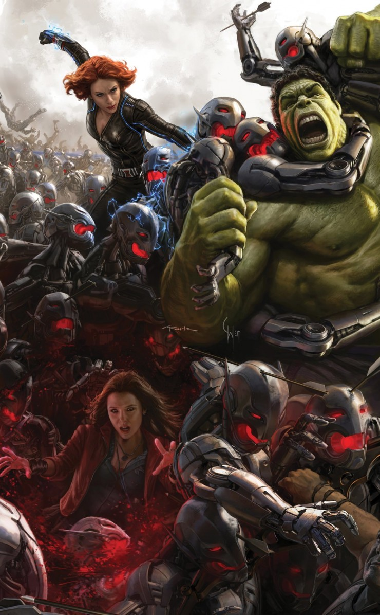 Avengers Age Of Ultron Concept Art Wallpaper for Apple iPhone 4 / 4s