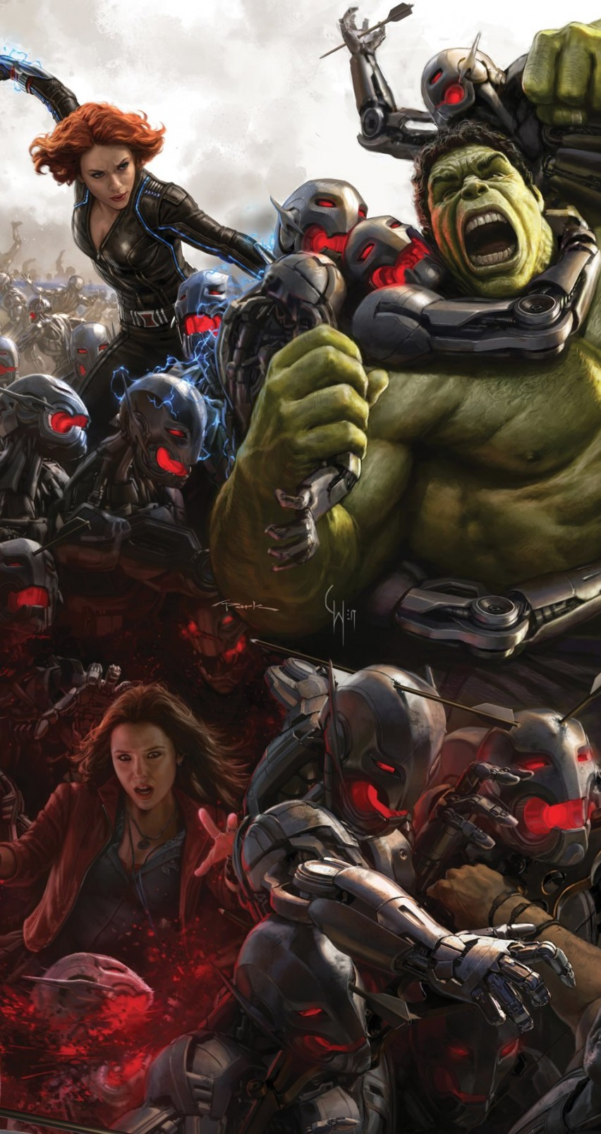 Avengers Age Of Ultron Concept Art Wallpaper for Apple iPhone 6 / 6s