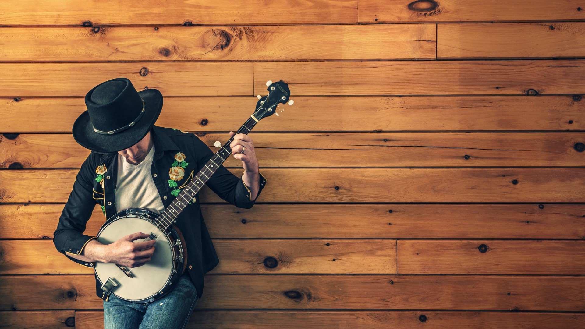 Banjo Player Wallpaper for Desktop 1920x1080