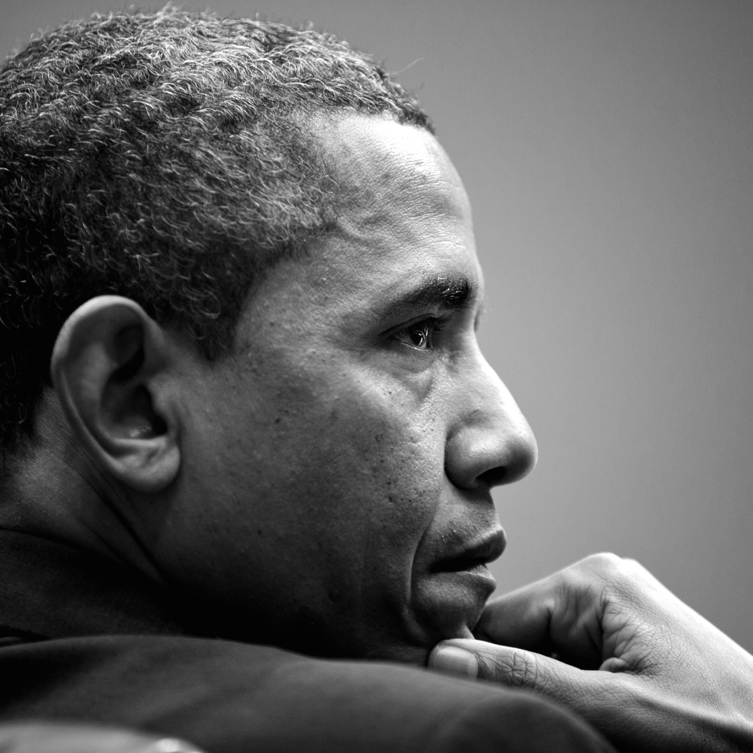 Barack Obama in Black & White Wallpaper for Apple iPad 4