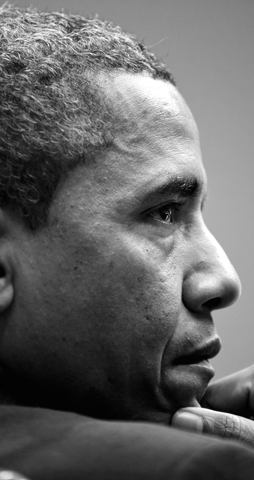 Barack Obama in Black & White Wallpaper for Apple iPhone 6 / 6s