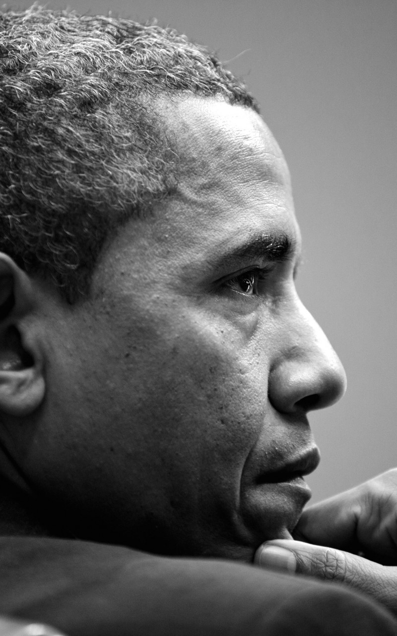 Barack Obama in Black & White Wallpaper for Amazon Kindle Fire HD