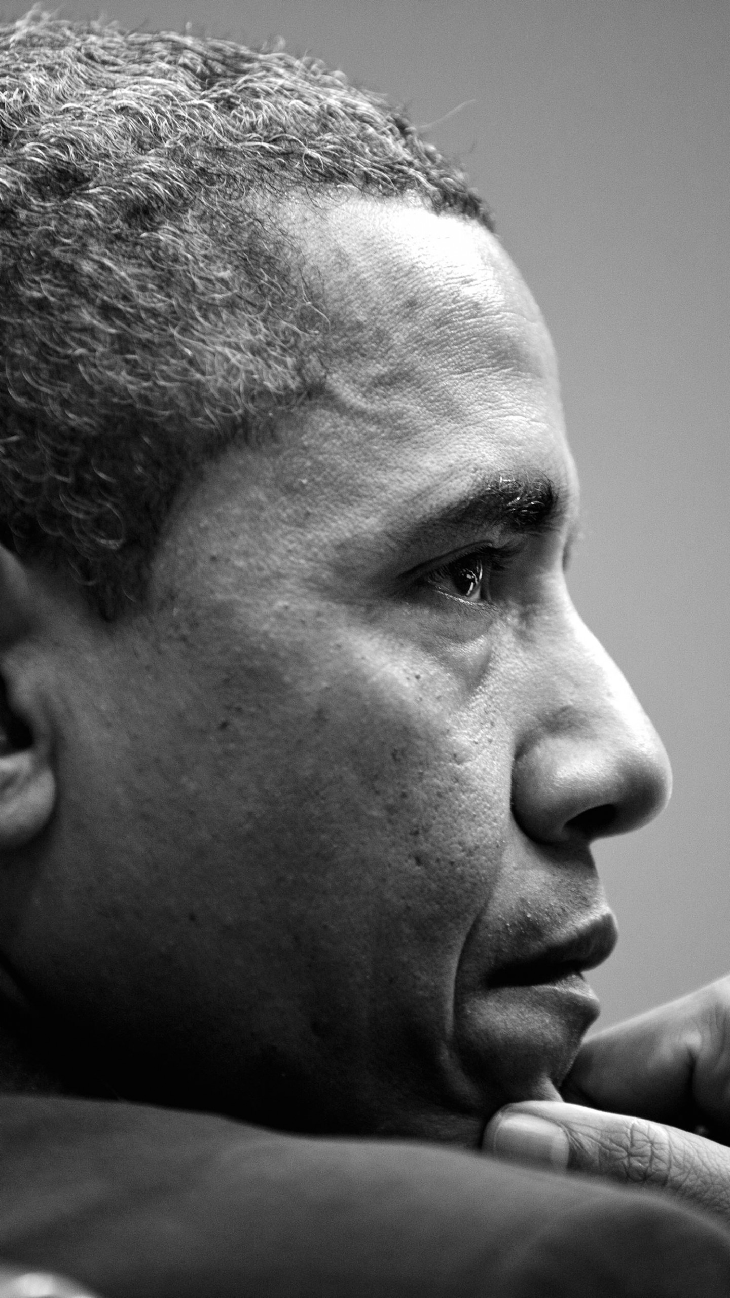 Barack Obama in Black & White Wallpaper for LG G3