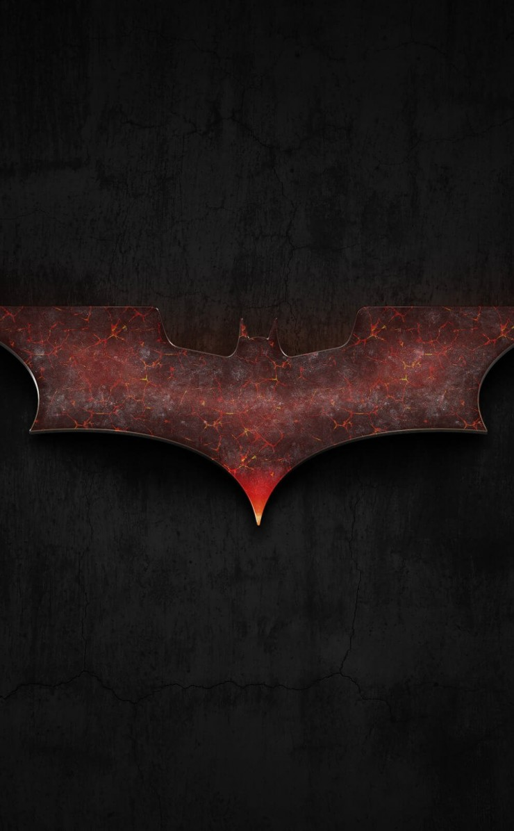 Batman: Fire Rising Wallpaper for Apple iPhone 4 / 4s
