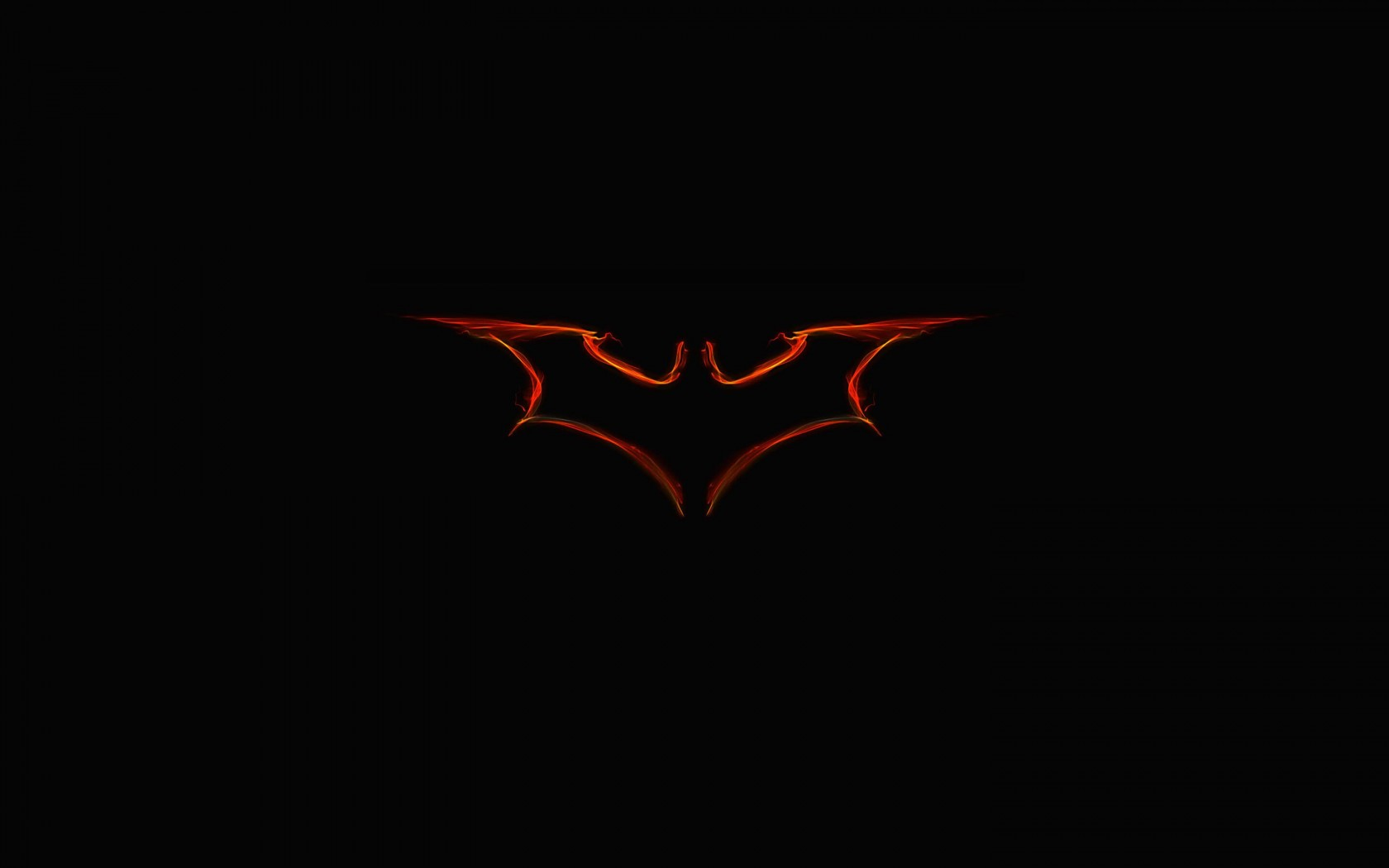 Batman Light Painting Logo Wallpaper for Desktop 1680x1050
