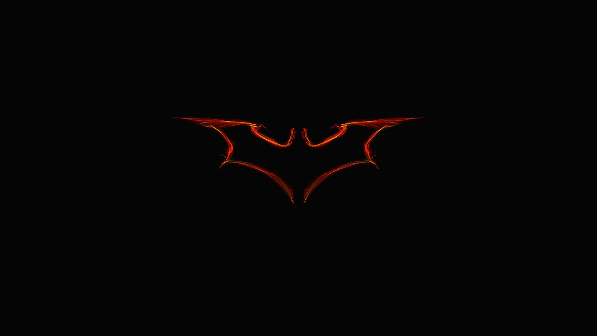 Batman Light Painting Logo Wallpaper for Desktop 1920x1080