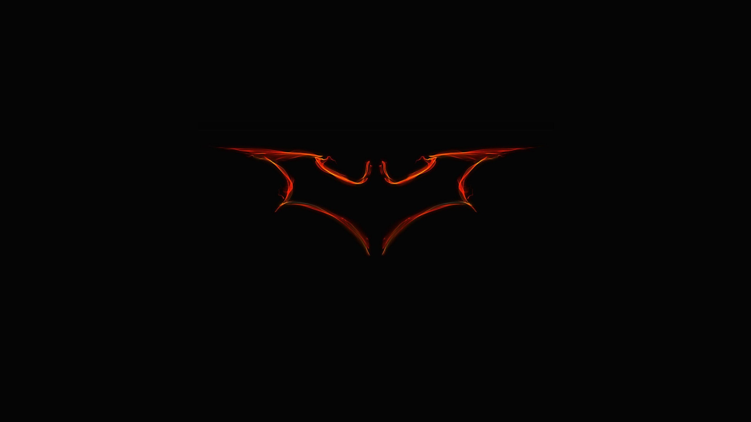 Batman Light Painting Logo Wallpaper for Desktop 2560x1440