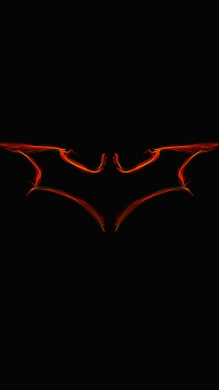 Batman Light Painting Logo Wallpaper for HTC One X